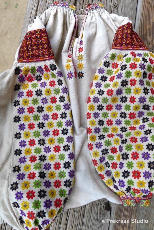 Жіноча сорочка, гуцульщина. Онлайн школа української вишивки Prekrasa Studio