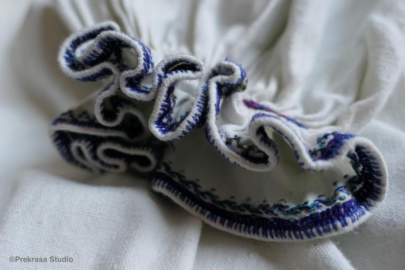 Жіноча сорочка Східного Поділля, вишиванка, оздоблення манжету. Онлайн школа української вишивки Prekrasa Studio