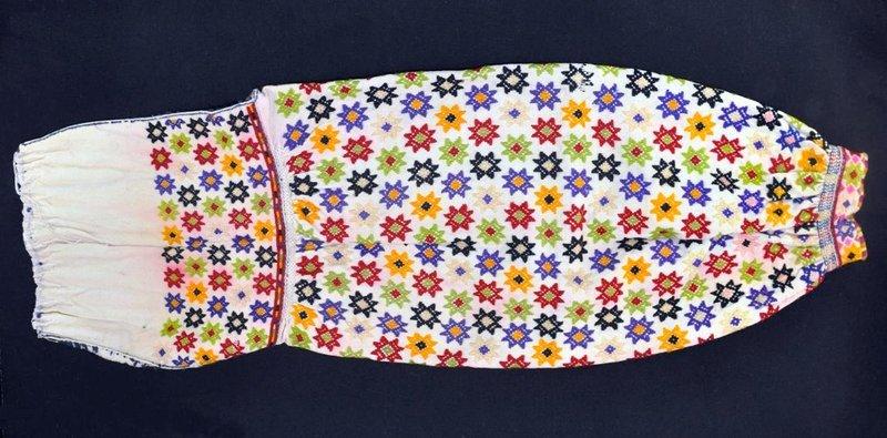 Гуцульська жіноча сорочка, низь, низинка, вишивка вовною. Онлайн школа української вишивки Prekrasa Studio